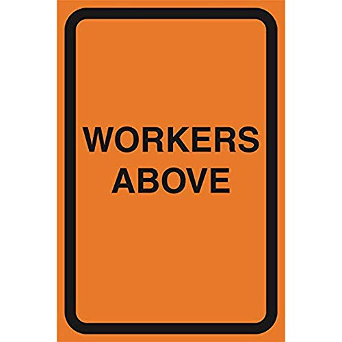 """Diuangfoong Workers Above Orange Road Street Driving Construction Area Zone Safety Notice Warning Business Signs Commercial Sign Aluminum Metal Tin 12""""x18"""" Sign Plate from Diuangfoong"""