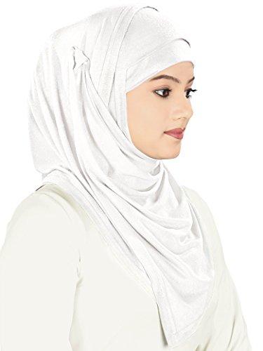 burqa AY abaya maxi cotone islamica preghiera bianca 362 abito MyBatua semplice HUqCA
