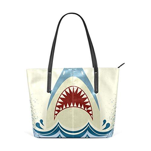 COOSUN Shark Jaws PU Leder Schultertasche Handtasche und Handtaschen Tasche für Frauen