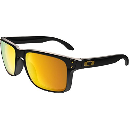 Oakley Men's Holbrook Sunglass, Polished Black/24k - Holbrook Black Iridium