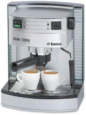 Saeco gran crema Deluxe – Cafetera espresso, color plateado (e): Amazon.es: Hogar