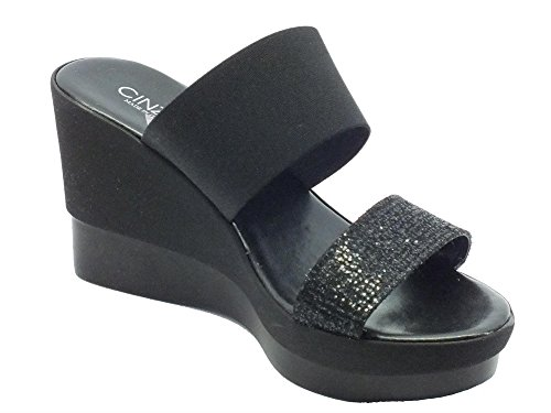 Cinzia Soft Ibc18 Nero - Sandalias de vestir de Material Sintético para mujer negro