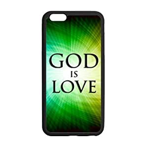 iPhone 6 Plus Case, God Is Love Green Fashion TPU Frame & PC Hard Back Protective Cover Bumper Case for iPhone 6 Plus 5.5 Inch On 2014