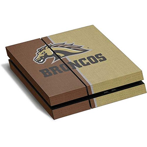 Western Michigan PS4 Horizontal (Console Only) Skin - Western Michigan Broncos Split Vinyl Decal Skin For Your PS4 Horizontal (Console Only) by Skinit