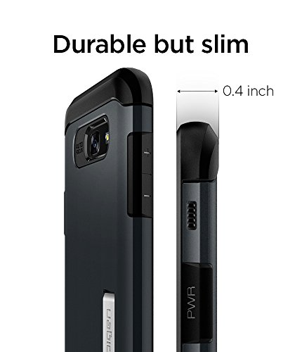 separation shoes 907a8 819d5 Spigen Slim Armor Galaxy A5 2017 Case with Air Cushion Technology and  Hybrid Drop Protection with Kickstand for Samsung Galaxy A5 2017 - Metal  Slate