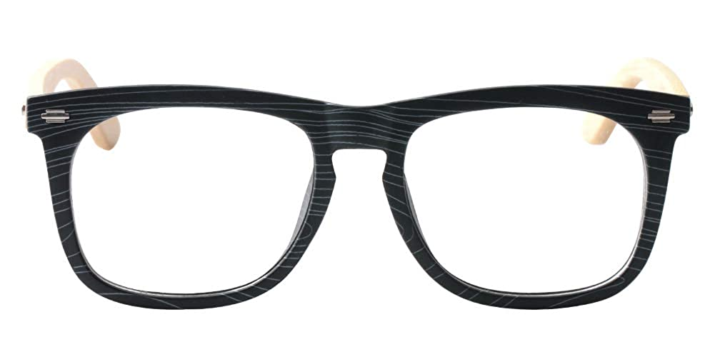 05e0eec618 Amazon.com  SOOLALA Cool Retro Style Quality Wood Bamboo Arm Custom Strengths  Reading Glasses