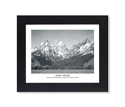 Ansel Adams Snow Teton B/W Photo Wall Picture Framed Art Print