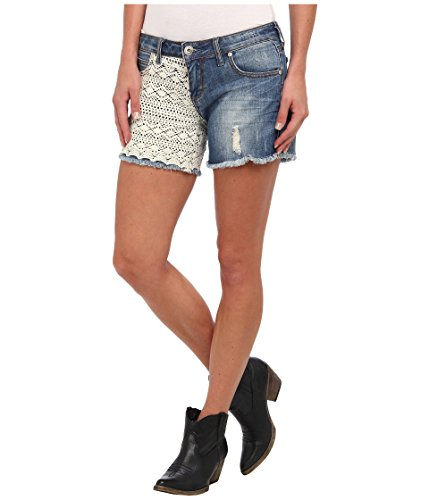 (Denim Short With Lace On Front And Back Stetson Ladies Collection- Spr (8) 11-055-0202-0290BU)