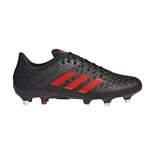 Adidas Predator Malice Control Rugby Boots - Black/Red - UK 10.5 (Adidas Predator Rugby)
