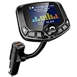 LoHi Bluetooth FM Transmitter for Car, Wireless Radio Adapter Hands-Free Kit 1.8''Color Display