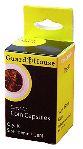 Guardhouse Cent (19mm) Direct-Fit Coin Capsules - 10 Pack