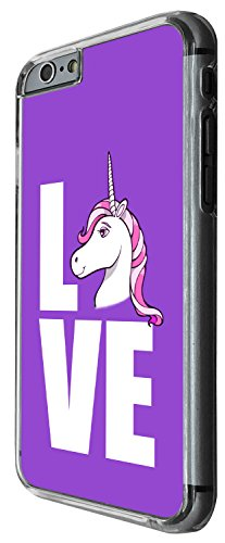 1356 - Cool Fun Trendy cute kwaii nature unicorn horse fantasy whimsical love Design iphone 6 6S 4.7'' Coque Fashion Trend Case Coque Protection Cover plastique et métal - Clear