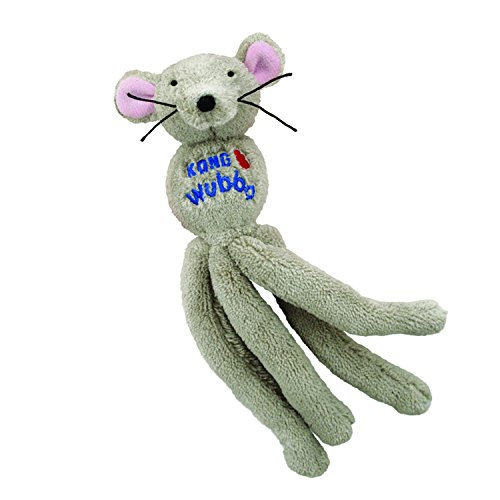 KONG - Cat Wubba Mouse - Soft Plush Catnip Toy, Crinkles and Rattles (Assorted ()