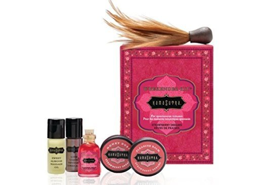 Kama Sutra Intimate Gift Sets & Fun Travel Kits THE WEEKENDER KIT STRAWBERRY (Be ready for spontaneous romance with these petite sensual luxuries)