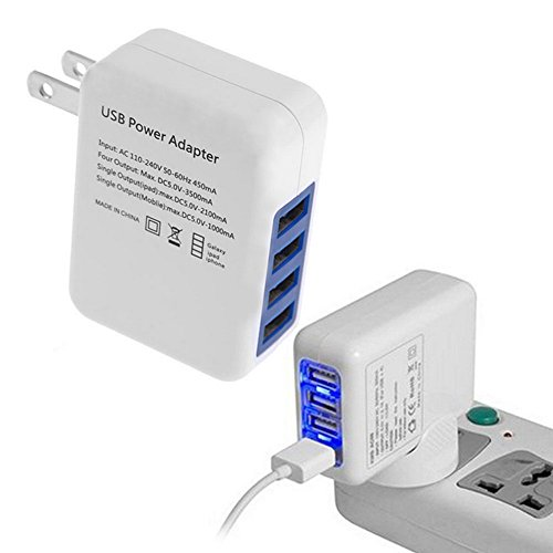 40W 4-Port USB Wall Charger with Foldable Plug, PowerPort 4 Compatible iPhone X/8/7/6S/6S Plus, iPad Pro/Air 2/mini2, Samsung Galaxy/Note and More by CBMVNC ERUTIHGF