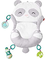 Fisher-Price All-in-One Panda Playmat, plush, take-along tummy time mat with baby rattle and teether toy for newborns from birth & up