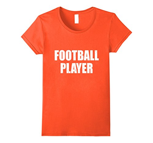 Womens Football Player T Shirt Halloween Costume Retro