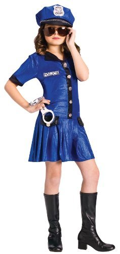 Police Girl (Small (4-6)) (Halloween Costume Cop)