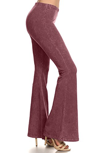 Zoozie LA Women's Bell Bottoms, Mauve Pink, Medium