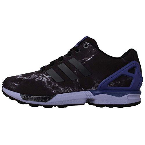 Adidas Women's ZX Flux, BLACK/PURPLE, 7.5 US