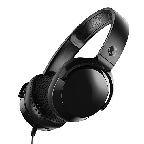 Skullcandy Riff Wired On Ear Headphone with Mic  Black