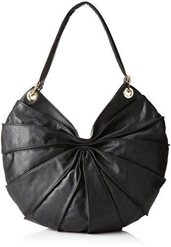 Kaviar Gauche Classic Lamella Bag Midi, Sac à bandoulière pour femme, Noir (noir / or), 10x40x44 Cm (bX H H T)