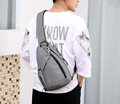 Grey Outdoor Chest Dark Backpack Business Bag Shoulder Single Men's Keephen Capacity Crossbody Large 6qw474O8