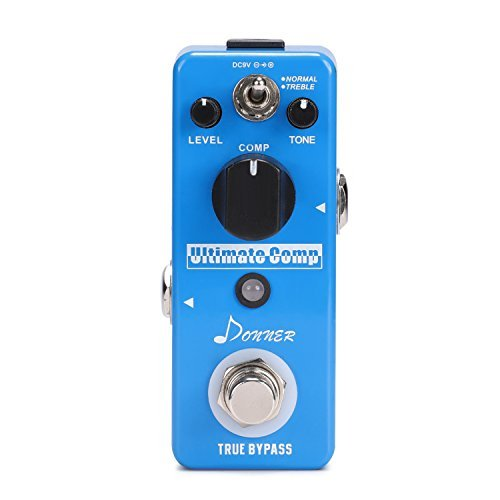 Donner Ulitmate Comp compression original holds a guitar effector compact pedal compressor excessive input signal by Donner