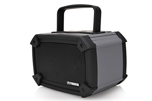 Fisher Waterproof Wireless Stereo Boombox, Bluetooth Enabled