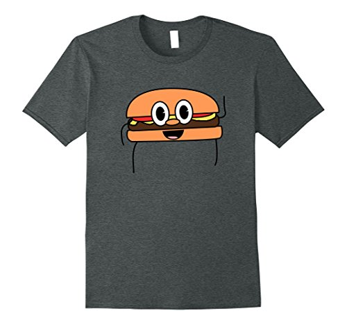 Mens Awesome Matching Burger Halloween Costume T-Shirt Idea XL Dark Heather (Twin Costumes For Teens)