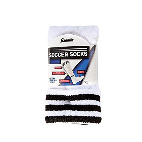 Franklin Sports Youth ACD Soccer Socks, White/Black, Small