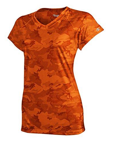 Champion doble seco 4.1oz. Interlock Camiseta Safety Orange Camo