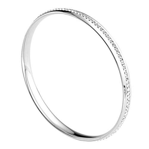 Stainless Silvery Eternity Bracelet Diameter