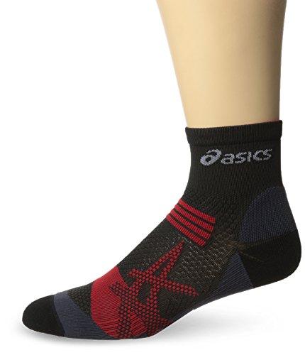Asics Kayano Socks - ASICS Kayano Quarter Socks, Black/Red Heat, Small