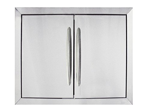 Napoleon N370-0502-1 Medium Stainless Steel Double Door Set by Napoleon