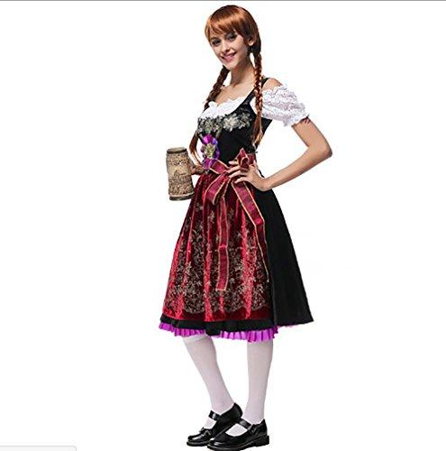 Sets Kostüm Trachtenmoden Damen Halloween tlg Cosplay 3 Costour Kleid Dirndl Bluse Trachtenkleid Oktoberfest Schürze Hw4UY8q