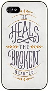 He heals the broken hearted - Vintage art - Bible verse For SamSung Galaxy S3 Case Cover black plastic case / Christian Verses