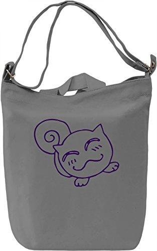 Doodle cat Borsa Giornaliera Canvas Canvas Day Bag| 100% Premium Cotton Canvas| DTG Printing|