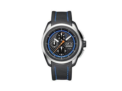 Luminox 5261 Men's Space Xcor Auto Chrono Black Leather Carbon Fiber Dial Black Ti. Watch