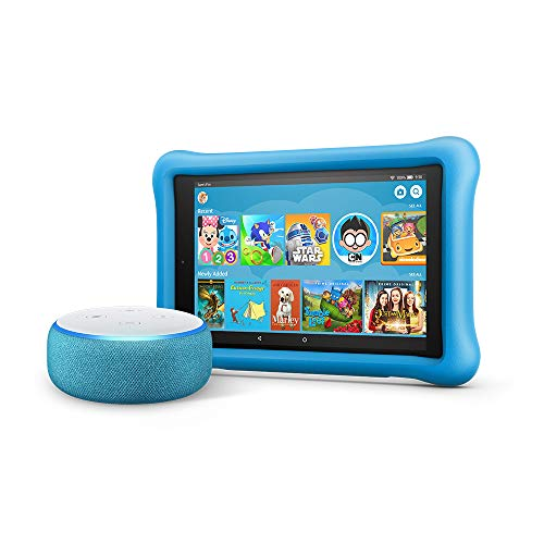 All-New Echo Dot Kids Edition, Blue with Fire HD 8 Kids Edition Tablet, Blue