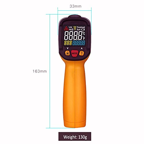 Infrared Thermometer, Non Contact Laser Thermometer Gun for Oven Kitchen Cooking BBQ Automotive Industrial, -58℉ ~ 1022℉ with LCD Display by Dinlly (Image #1)