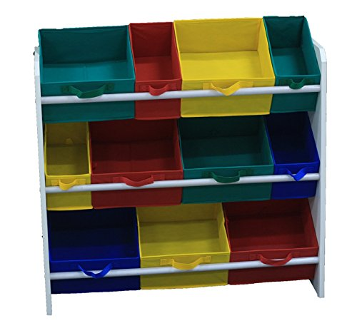 Organizador de Brinquedos Infantil colorido Organibox Montessoriano