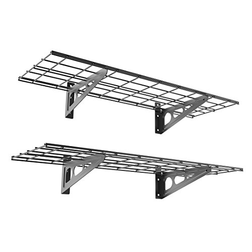 Review FLEXIMOUNTS 2-Pack 1x3ft 12-inch-by-36-inch Wall Shelf Garage Storage Rack Wall By FLEXIMOUNTS by FLEXIMOUNTS