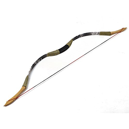 I-Sport Traditional Recurve Bow 49'' Archery Hunting Horse Bow Longbow 30 lbs