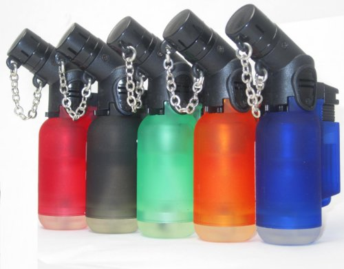 10 Pack 45 Degree Angle Jet Flame Butane Torch Lighter Refillable Windproof