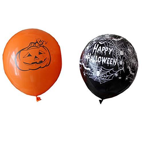 AUWU 10pcs/5pcs Pumpkin/Spider Halloween Balloon Elastic Latex Party Decorative Room Ornaments]()