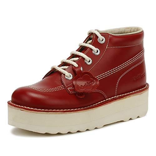 Donna Rosso Kick Kickers Stack Hi Red Stivali vxOxf7qw