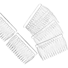Clear Plastic Hair Combs Ready to Decorate Bridal Accessories Hair Supplies Craft DIY 12 Pack