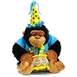 """Happy Birthday 12"""" Plush Monkey with Birthday Cake Plays """"Happy Birthday"""" Song"""