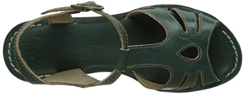 Fly London Open Gold Toe Sandali Green 044 Verde Nilo qUHaWqZw